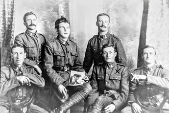 2nd left front row Jack Foster New Zealand army 1914-18