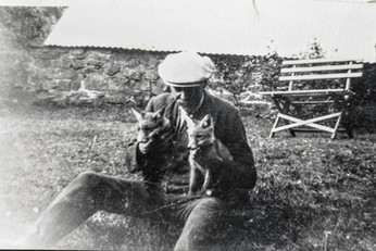 'Hobble' Cook with fox cubs