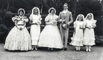 Pageant at the manor with Elizabeth (Jumny) Frost as the crinoline lady