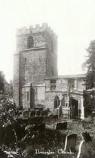 Exterior of the church of St Mary, Ilmington 1920s