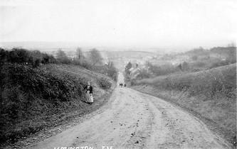 A country lane, Ilmington. 1900s