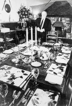 James Last in dining room of Howard Arms