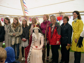 Scarecrow competition with ex May Queens 2