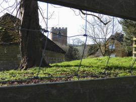 St Mary's through the fence