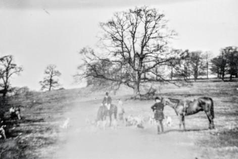 Hunt meet in park at Foxcote