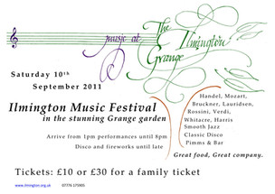 Ilmington Festival poster 2011