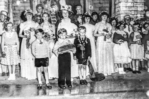May Day celebrations 1950s, Village hall