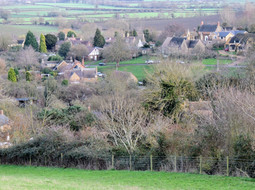 Looking towards Upper Green from the old Campden road