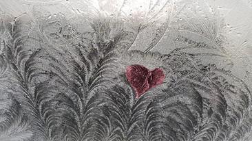 Frost on an Ilmington window - Valentine Heart