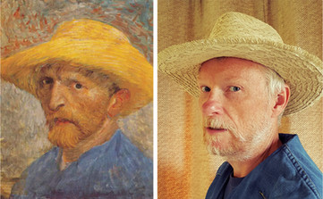 Van Gogh straw hat - Martin Seymour