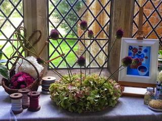 Arts & crafts window close up