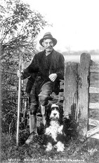 Walton Handy, The Cotswold Shepherd who lived in Ilmington. 1930