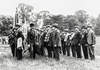 British Legion on parade - Herbert Sabin 3rd from right back row