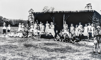 May Day, playing fields outside old changing shed (now tennis pavilion)