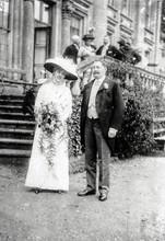 Helena Jackson & Thomas Mowbray Berkeley on their wedding day Wednesday 12th June 1912