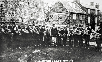 Ilmington brass band c1912. Taken before they got the uniform