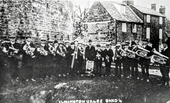 Ilmington brass band c1912. Taken before they got the uniform