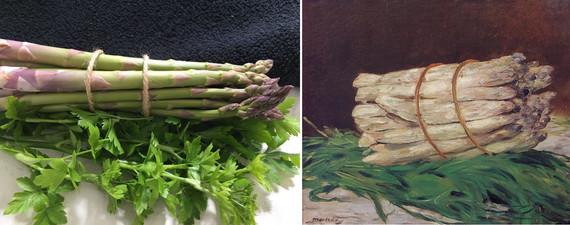 Bunch of Asparagus after Édouard Manet