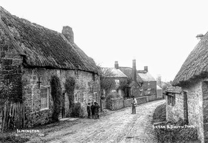 Thatched cottages in Back Street - 1900s