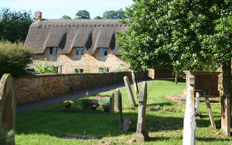 Sunny churchyard