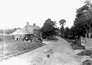Red Lion, Front Street, with horse and cart