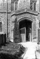 South entrance to St Mary's church, Ilmington. 1950s