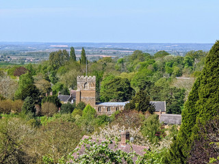 St Mary's from Foxcote Hill April 2020