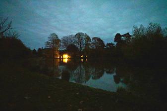 Manor ponds at dusk