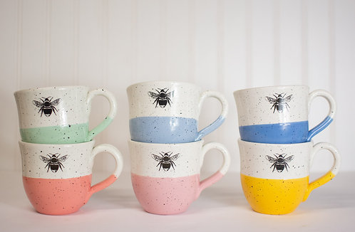 Speckled Color Block Mug