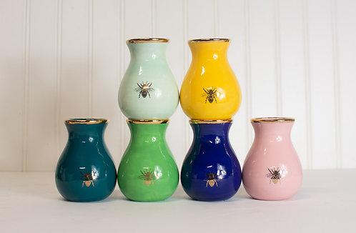 Gilded Bee Bud Vases