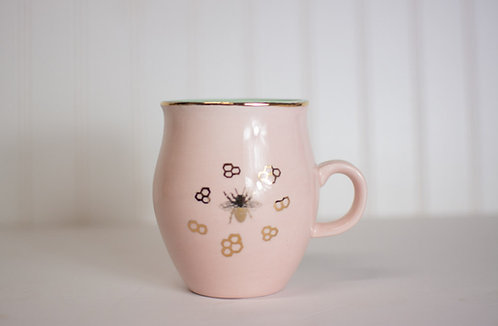Gilded Honeycomb Mugs