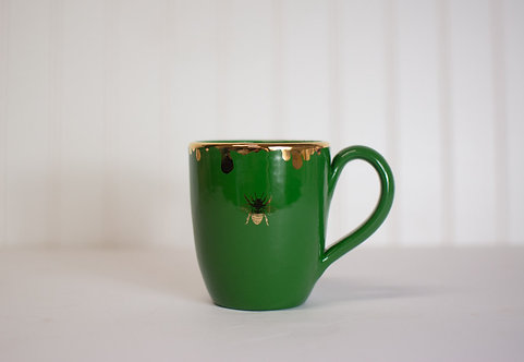 Gilded Honey Drip Notched Tea Mug