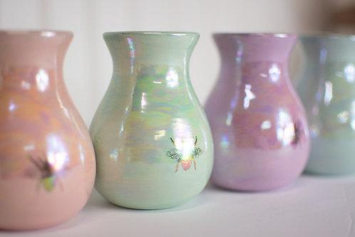 Iridescent Bee Bud Vases