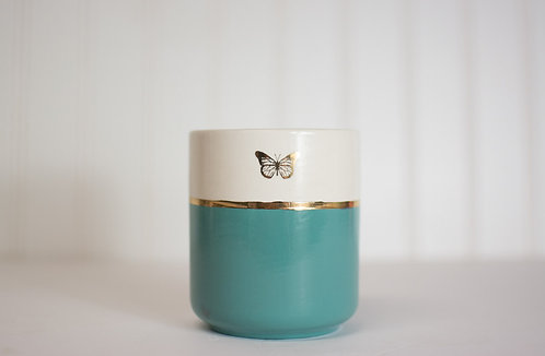 Gilded Butterfly Tumbler