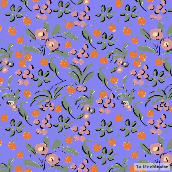 flower vase purple