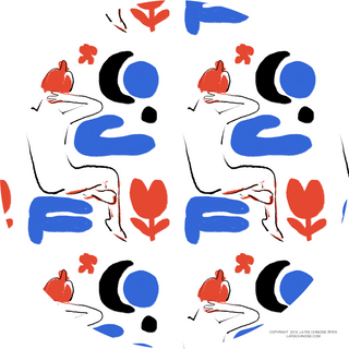 Pattern bleu blanc rouge