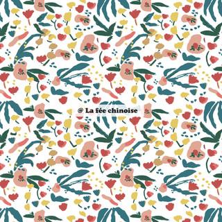 gouache flower pattern