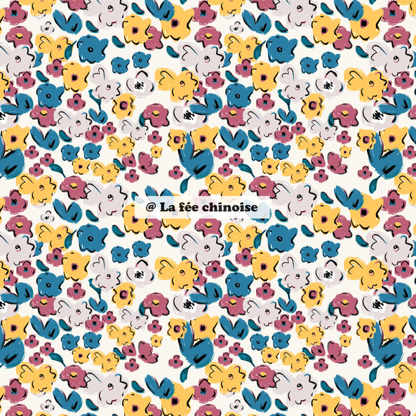 too much flowers pattern