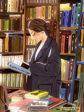 à la librairie