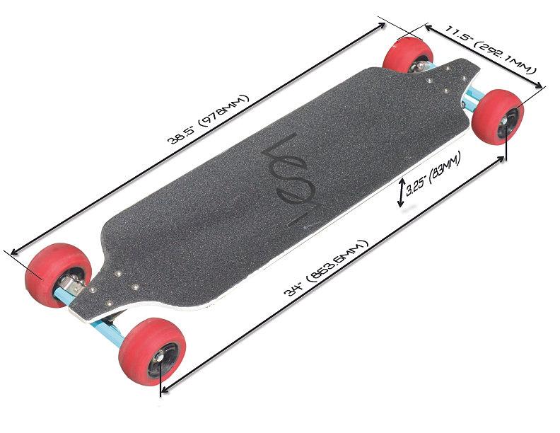 Image Gallery Longboard Dimensions