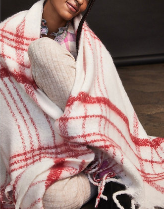 FP brushed blanket scarf