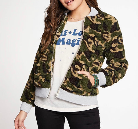 Fluff bomber jacket