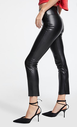 David Lerner vegan leather crop flare
