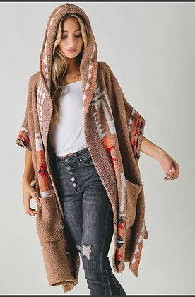 Navajo hooded poncho