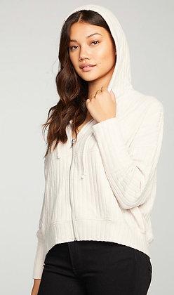 Easy ribbed zip up hoodie