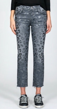 Black Orchid leopard print skinny