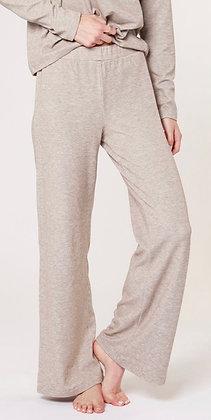 Cozy heather knit wide leg pant
