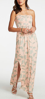 Chaser Strapless Palm Dress
