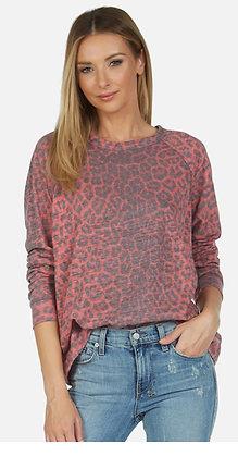 Michael Lauren Hall leopard sweatshirt