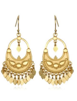 Satya Gold Veils Earrings - Petal Chandelier